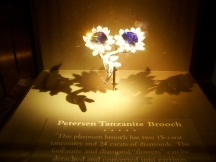 Peterson Tanzanite Broach at the Smithsonian Museum of Natural History