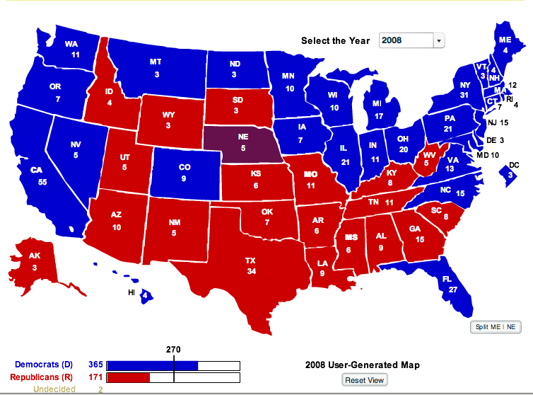Current Electoral Map