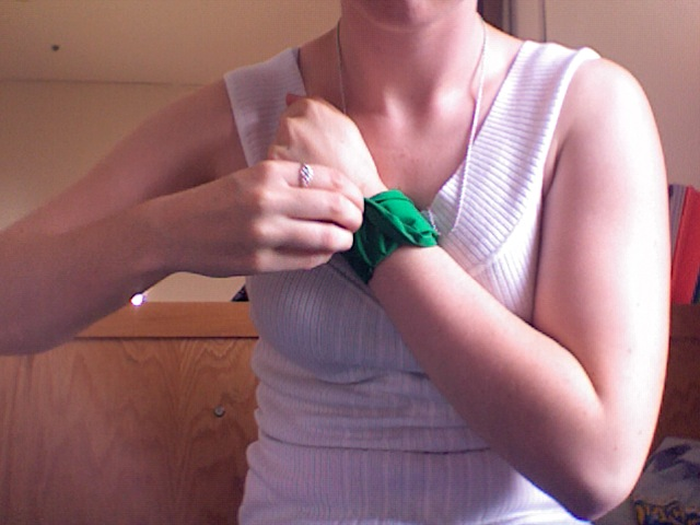 Jessica with Green Armband