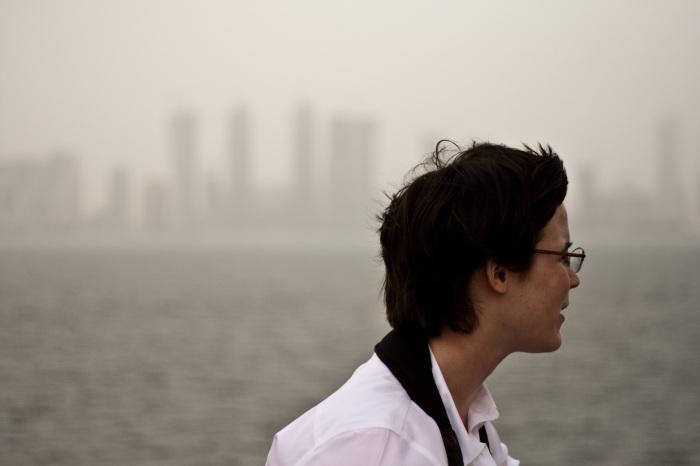 Jessica Dickinson Goodman in Qatar, March 2009