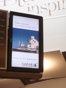 Qatar Airways Ad, Heathrow Airport