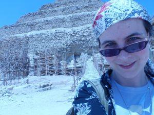 Jessica Dickinson Goodman in Memphis, Egypt, 2010